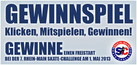Gewinne einen Freistart zur Skate-Challenge